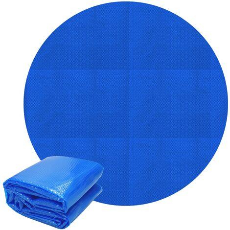 Bâche solaire pour piscine film à bulles isolant thermique rond bleu 2,5 m 140mµ