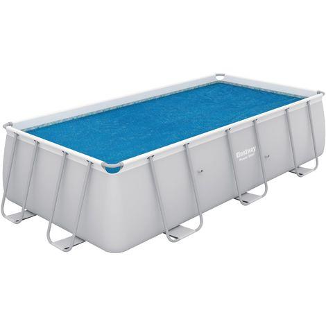 Bâche solaire pour piscine Flowclear Bestway - Longueur 3,8 m - Largeur 1,8 m - Bleu