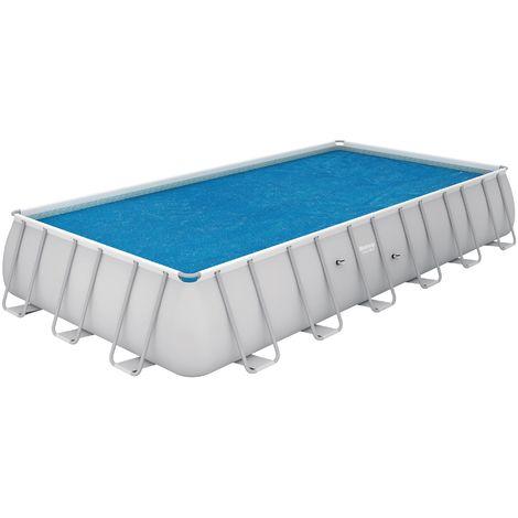 Bâche solaire pour piscine Flowclear Bestway - Longueur 7,03 m - Largeur 3,36 m - Bleu
