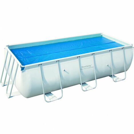 Bâche solaire pour piscine rectangulaire 412x201cm.