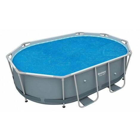 Bâche solaire pour piscine ronde Steel Wall