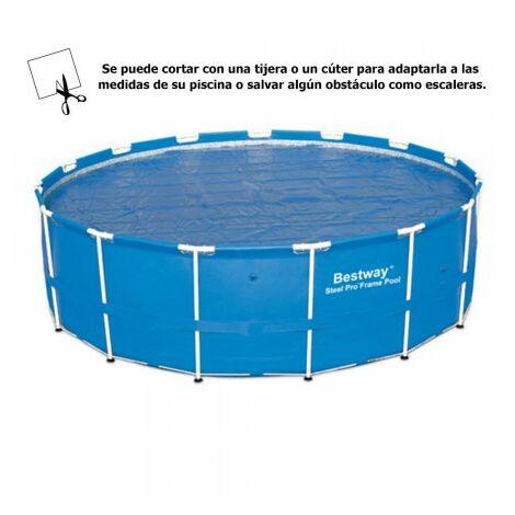 Bâche solaire pour piscines structure métallique Ø 488 cm.