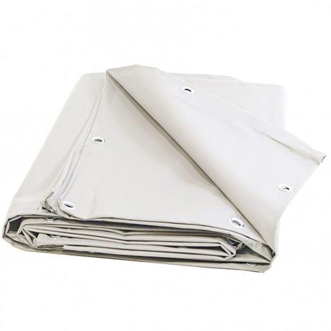 Bâche terrasse 10 x 12m 680g/m² - Bâche de terrasse blanche - Bâche pour terrasse PVC