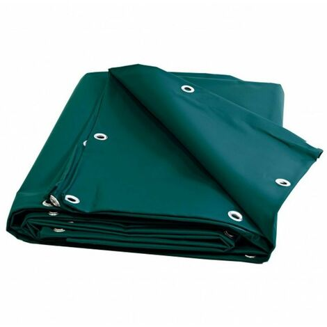 Bâche Toiture 2 x 3 m Verte 680 g/m2 PVC Haute qualité