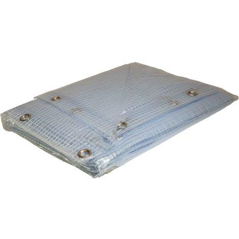 Bâche Toiture 2 x 5 m Verte 400 g/m2 PVC Bâche amée renforcée