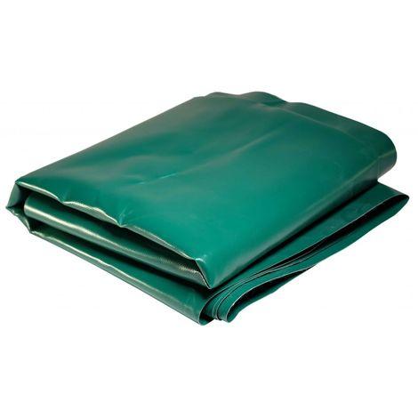 Bâche Toiture 5 x 4 m Verte 680 g/m2 PVC Haute qualité