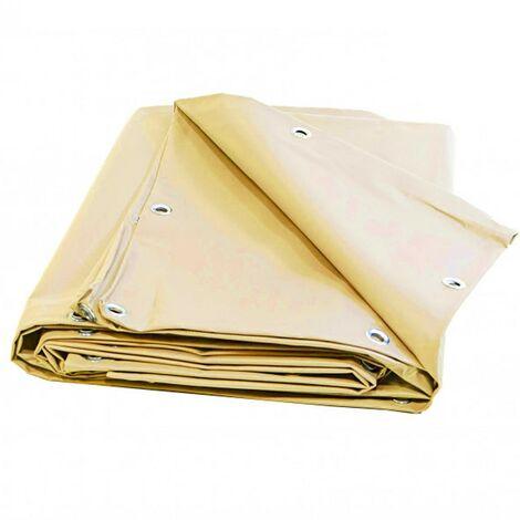 Bâche Toiture 6 x 4 m Ivoire 680 g/m2 PVC Haute qualité