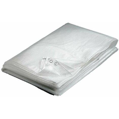 Bâche transparente 160 g/m2 Werkapro 4 x 6 m