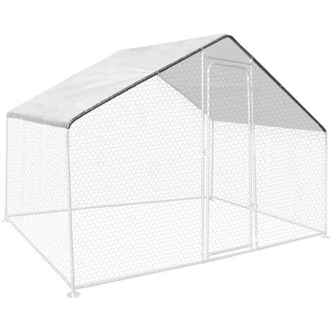 Bâche waterproof blanche 3,4 x 2 M 150 gr pour enclos poulaillers