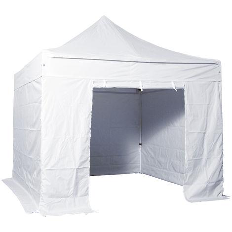 baches laterales 3x3m polyester 300g/m2 - 3 pleins + 1 porte