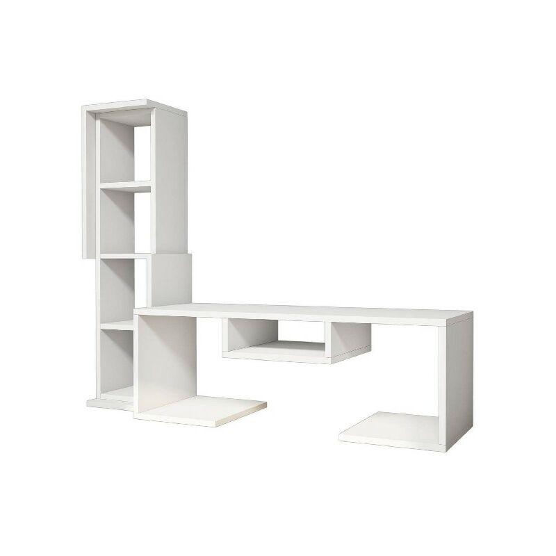 Bacio TV-Schrank - Modern - mit Einlegeboeden - vom Wohnzimmer - Weiss aus Holz, PVC, 126,8 x 35 x 103,6 cm