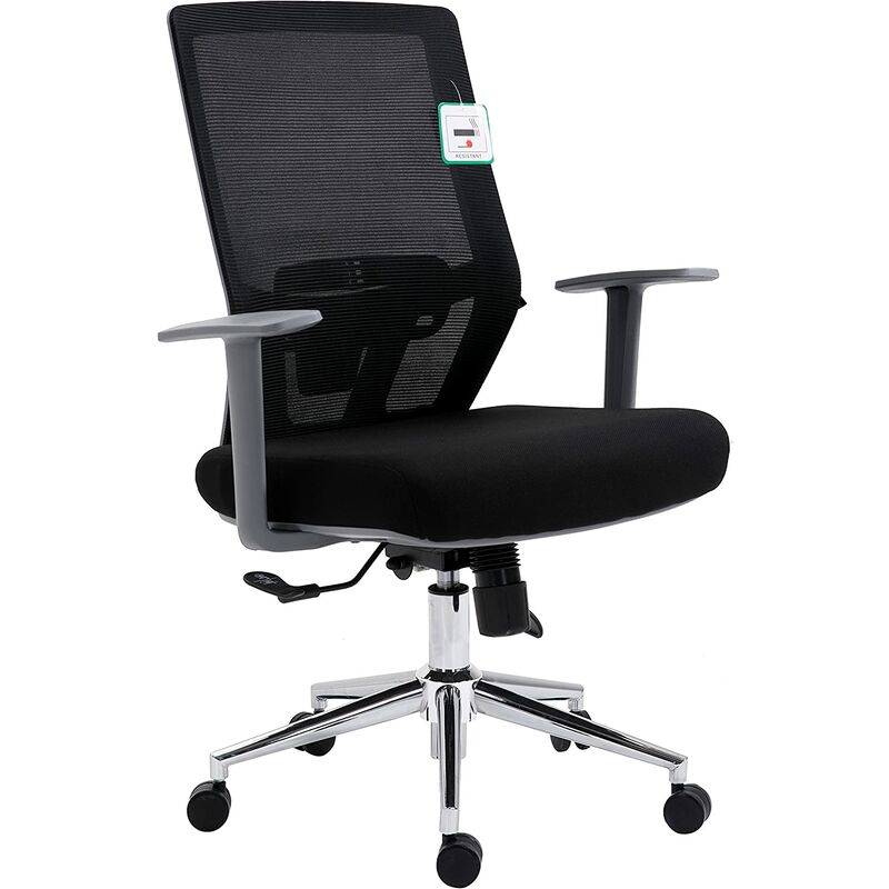 Groovy Back Chrome Base Ergonomic Office Chair Swivel Desk Chair With Lumbar Support Dailytribune Chair Design For Home Dailytribuneorg
