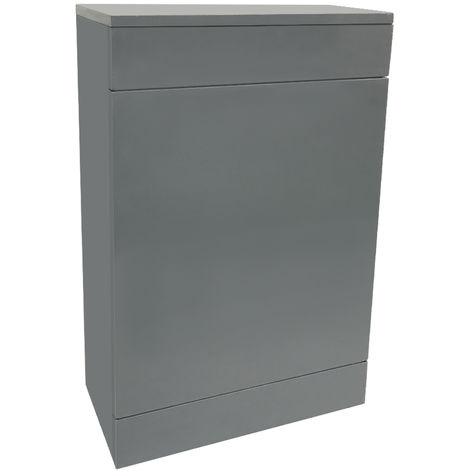Back To Wall Toilet Cistern Unit Bathroom Furniture 500mm Gloss Grey