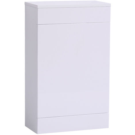 Back To Wall Toilet Cistern Unit Bathroom Furniture 500mm Gloss White