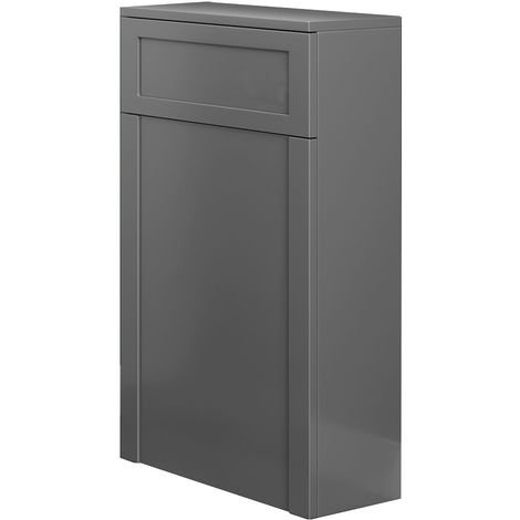 Back To Wall Toilet Concealed Cistern Unit Bathroom Furniture 502mm Matte Grey