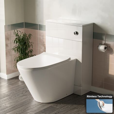 Back To Wall WC Toilet with Concealed Cistern Bathroom Unit