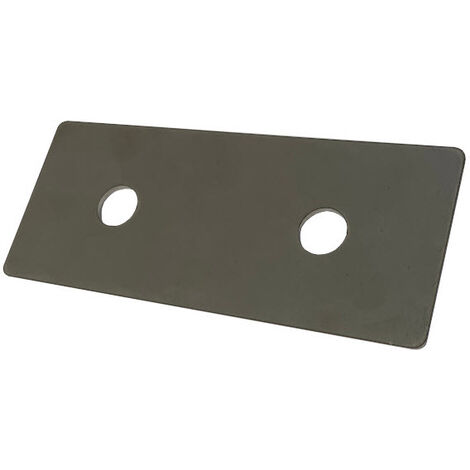 Backing plate for pipe clamp 120 mm centers 20 x 3 mm T304 Stainless Steel