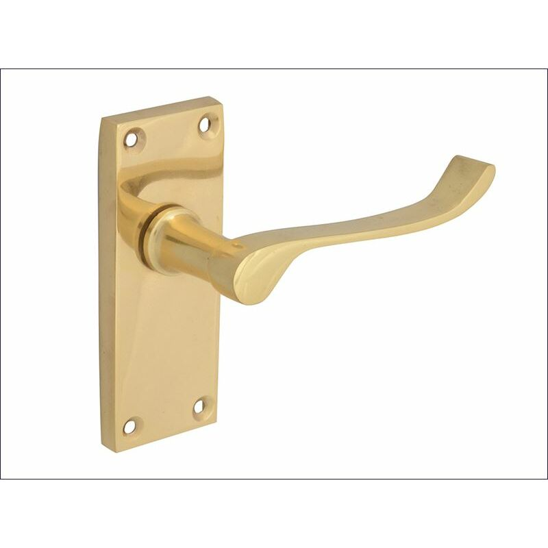 Image of Backplate Handle Latch -Scroll Victorian Brass Finish 102mm (FGEHLATVSCBR)
