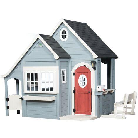 Backyard Discovery Spring Cottage maison enfant en bois   Maison de jeux pour l'extérieur / jardin   Maisonnette / Cabane de jeu avec cuisine et accessoires
