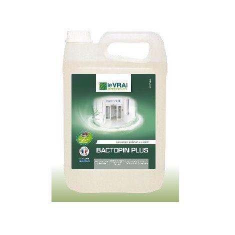 Bactopin - Désinfectant - Efficace contre de nombreux virus - ACTIF CORONA VIRUS Désignation : Désinfectant Bactopin | Conditionnement : 5 litres Saniterpen 3820