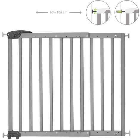 Badabulle Extendable Safety Gate Deco Pop Grey 63-106 cm - Grey