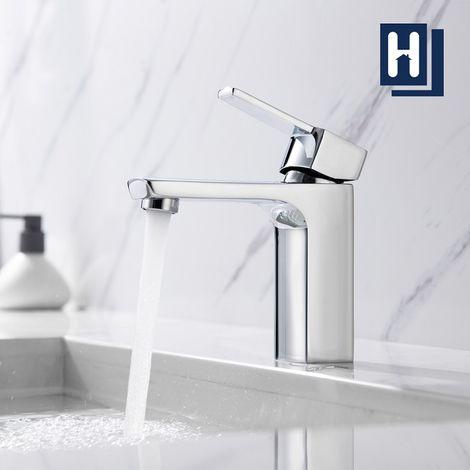 Badarmatur Einhand-Waschtischbatterie Wasserhahn Bad Waschtischarmatur Kalt-Warmwasserhahn, Homelody