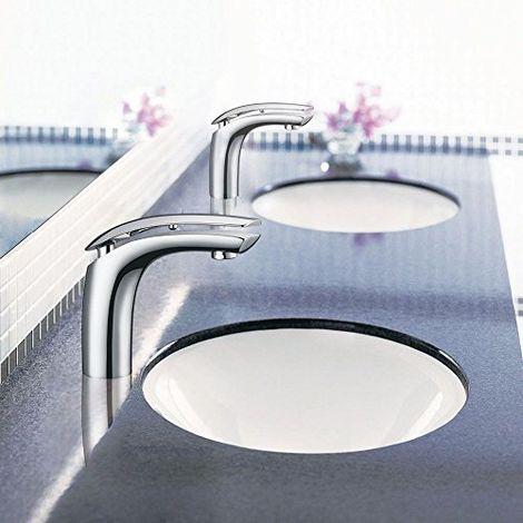 Badarmatur Mischer, Waschbecken, Aufsatzbecken, Armatur, Anti-Spritz-System, Durchflussregler
