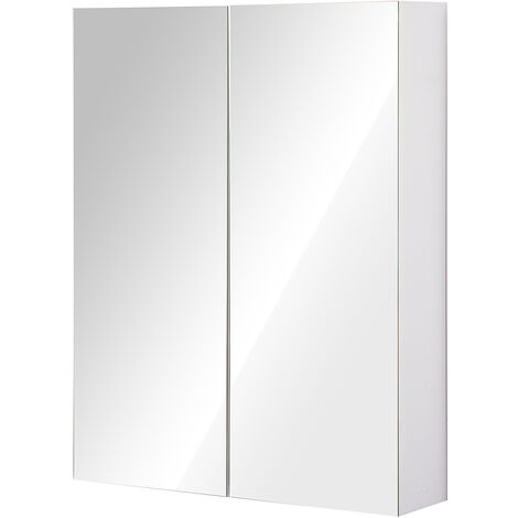 HOMCOM® Spiegelschrank Badezimmerschrank Hängeschrank 75 x 60 x 15 ...