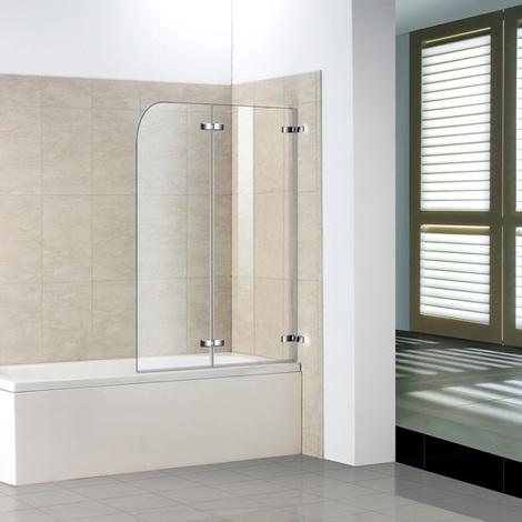 Badewanne 2-tlg. Faltwand Duschwand duschabtrennung 140cm