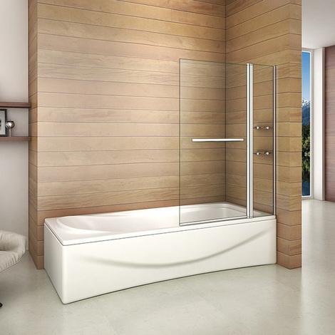 Badewanne 2 tlg. Faltwand Duschwand duschabtrennung