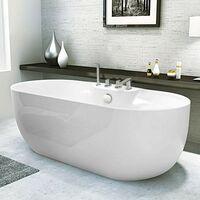 Badewanne freistehend aus Acryl Harz Fiberglas Elegantes Design ATMOSPHERE
