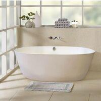 Badewanne freistehend aus Acryl mit Absteifungen aus Harz und Fiberglas, Elegantes Design ECLIPSE