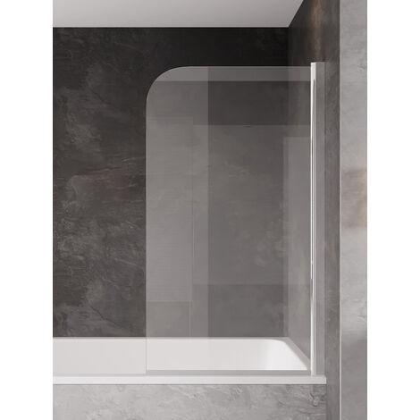Badewanne Torino 5mm mit Nanobeschichtung 70 x 140cm Duschwand Duschabtrennung Badewannenaufsatz