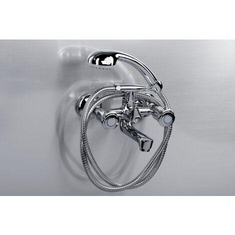 Badewannenarmatur mit Handbrause Krystal, chrom, VA2446530