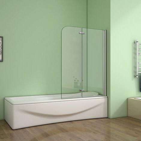 Badewannenaufsatz 2 tlg. Faltwand Duschwand Duschabtrennung