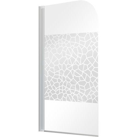 Badewannenaufsatz Duschabtrennung Duschwand Faltwand Glas Echtglas Badewanne
