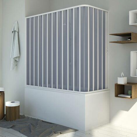 Badewannenaufsatz Duschkabine in PVC mod. Santorini mit seitlicher Öffnung