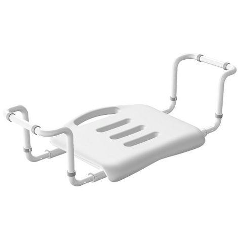 Badewannensitz - ausziehbar, 100 kg Tragkraft, Aluminium, Kunststoff, 50-65 x 18 x 26 cm, weiß