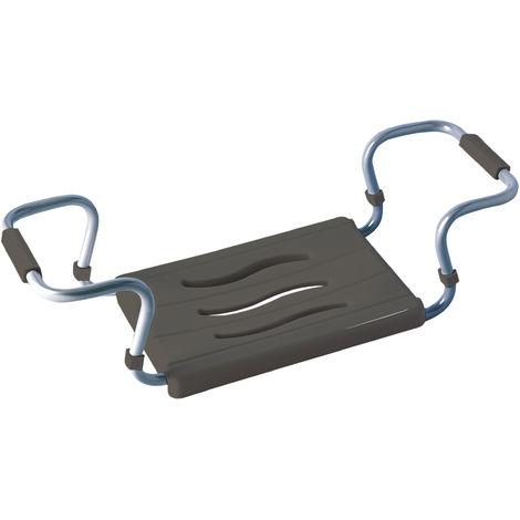 Badewannensitz - ausziehbar, 150 kg Tragkraft, Aluminium, Kunststoff, 55-70 x 18 x 26 cm, anthrazit