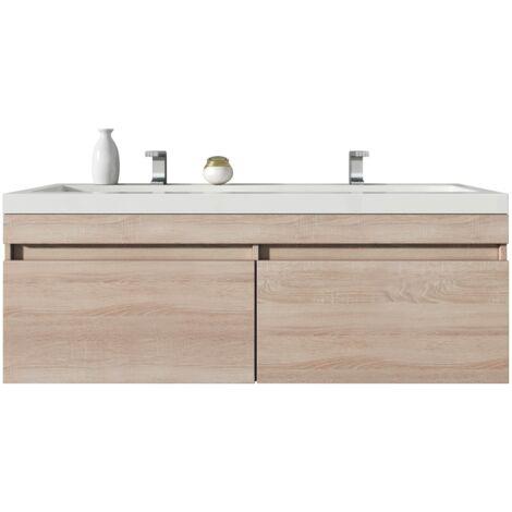 badezimmer badma bel avellino 120 cm eiche hell unterschrank schrank waschbecken waschtisch