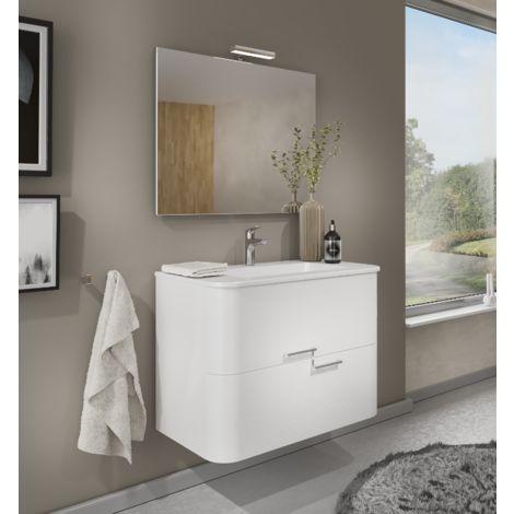 badezimmer badm bel 100 cm apollo aus gl nzend wei holz. Black Bedroom Furniture Sets. Home Design Ideas