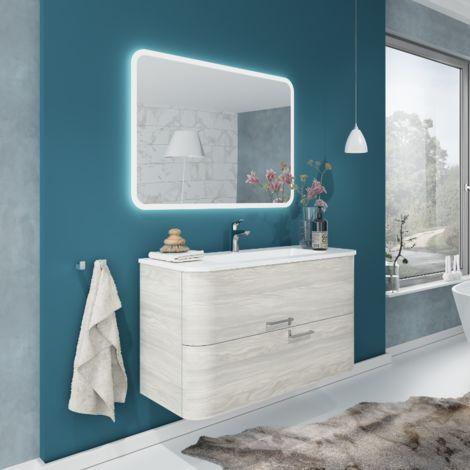 badezimmer badm bel 100 cm apollo aus nordische holz mit. Black Bedroom Furniture Sets. Home Design Ideas