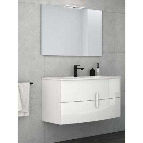 badezimmer badm bel 100 cm aus gl nzend wei lackiertem. Black Bedroom Furniture Sets. Home Design Ideas