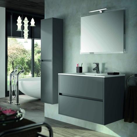 badezimmer badm bel 80 cm aus mattgrauem holz mit noja. Black Bedroom Furniture Sets. Home Design Ideas