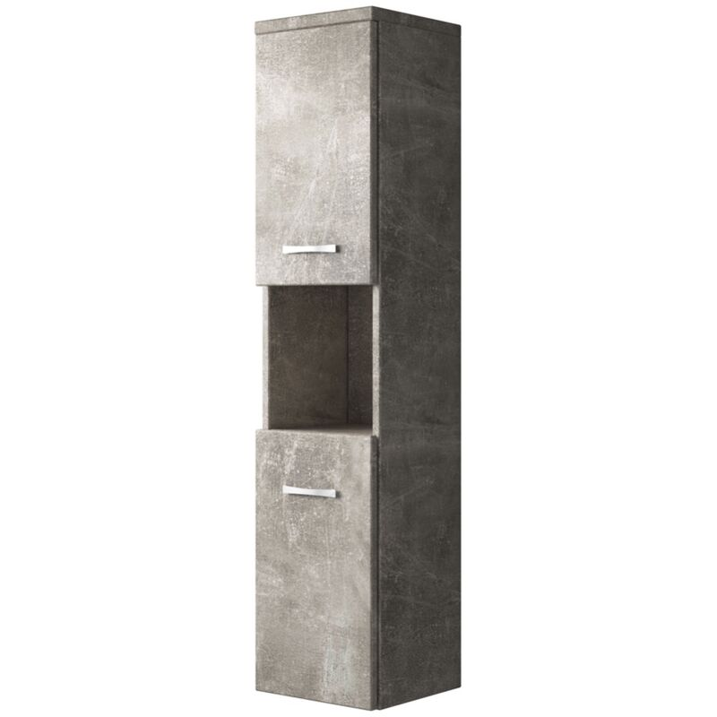 Badezimmer Schrank Montreal 131 Cm Beton Regel Schrank Hochschrank Schrank Mobel