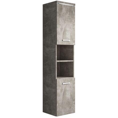 Badezimmer Schrank Paso 160cm Beton Grau Regal Schrank