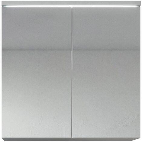 Badezimmer Spiegelschrank Toledo 60 cm Weiß – Stauraum Unterschrank Möbel  zwei Türen