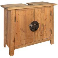 Badezimmer-Unterschrank Recyceltes Massivholz 70x32x63 cm