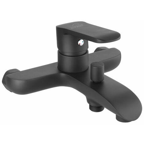 Badezimmer Wandbatterie Einhebelmischer Schwarz Pulverbeschichtetes Messing