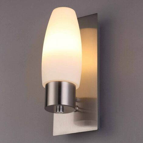 Badezimmer-Wandleuchte Marian mit E14-LED-Lampe -